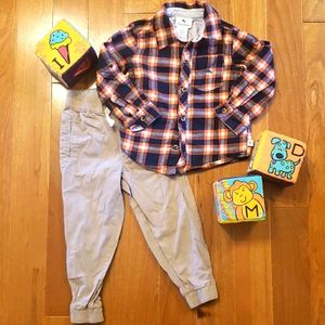 Tommy Bahama plaid flannel top and matching pants